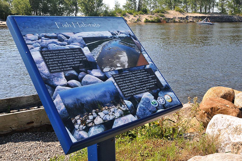 Nature Sign on Stonebridge Pond