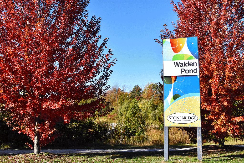 Walden Pond Sign