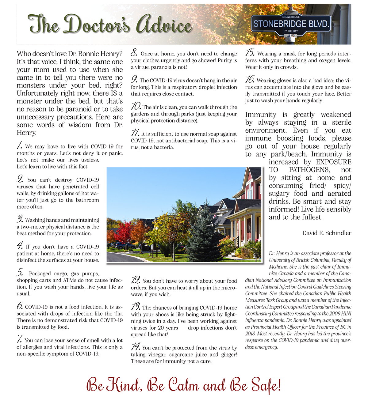 STC-November Newsletter - The Doctor's Advice